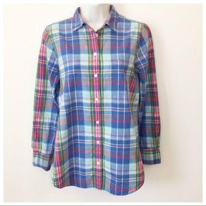 J. Crew summer plaid shirt